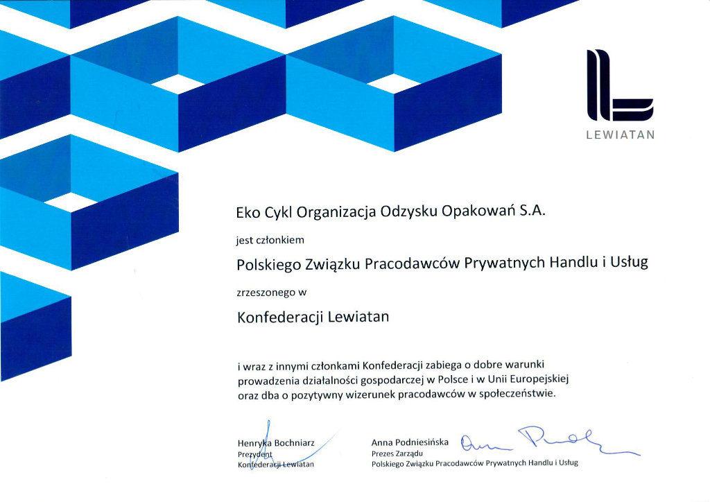 Dyplom konfederacji Lewiatan