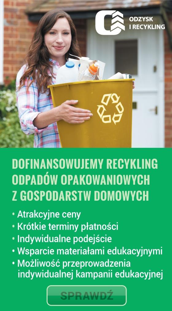 Dofinansowanie recyklingu i odpadów opakowaniowych z gospodarstw domowych