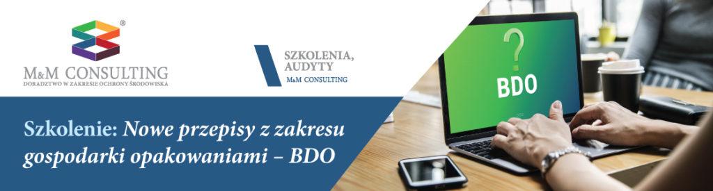 Szkolenie: Nowe przepisy z zakresu gospodarki opakowaniami - BDO